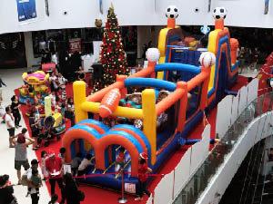 obstacle bouncy castle rental
