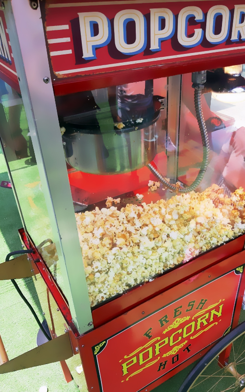 popcorn and candy floss machine